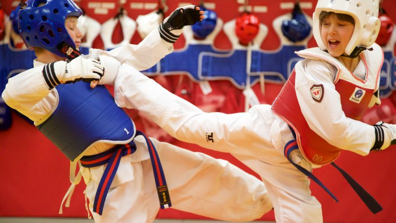 TaeKwondo Drummondville Enfants action combat
